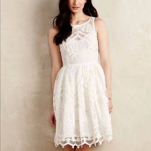 Anthropologie Beautiful White Dress